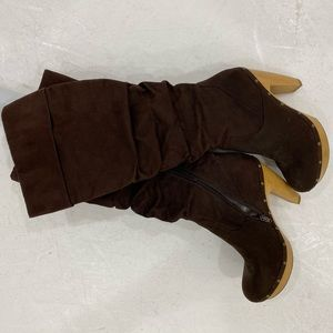 Brown boots Shoe dazzle worn once